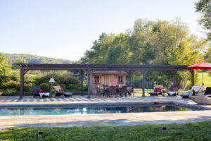 Decks Plus - Traditional Wood Pergola, Cinder Stain