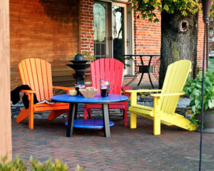 Decks Plus - Fanback Chairs and Conversation Table