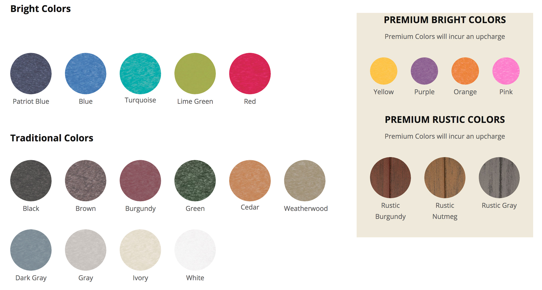 Poly Furniture 19 Vivid Color Choices